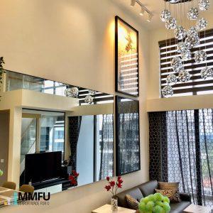 Anodized Aluminium Frame Customised Mirror