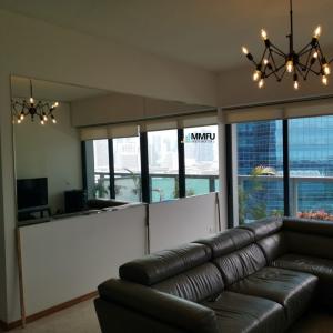 Frameless Wall Mirror for Living Room