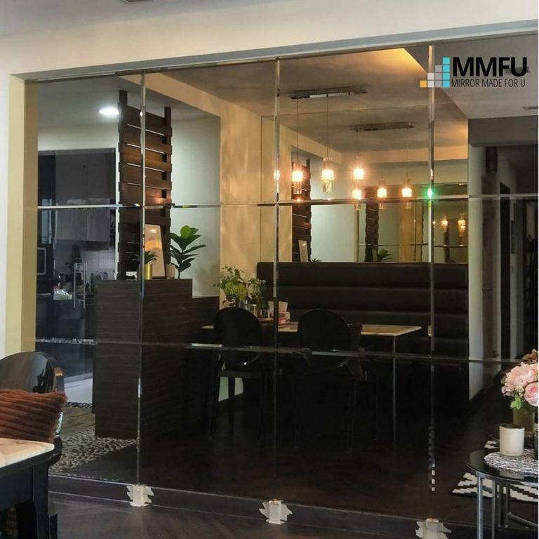 Full Length Wall Frameless Tinted Bronze Mirror