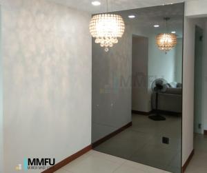Full Length Wall Frameless Tinted Grey Mirror
