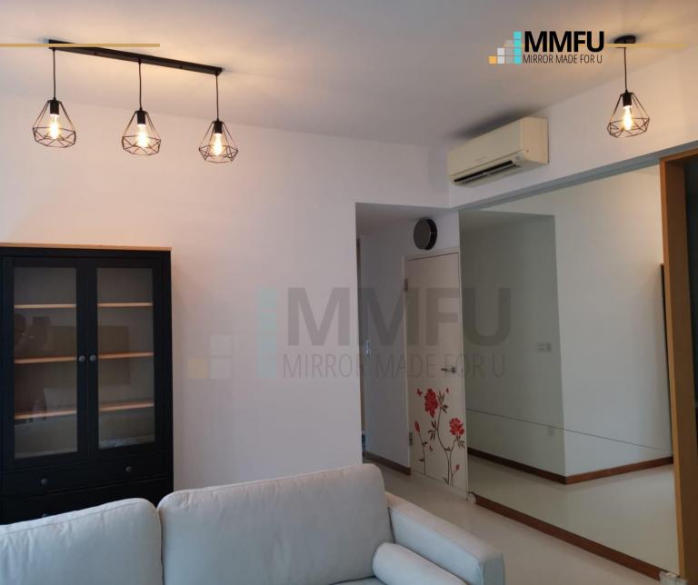 Full Length Wall Frameless Clear Mirror