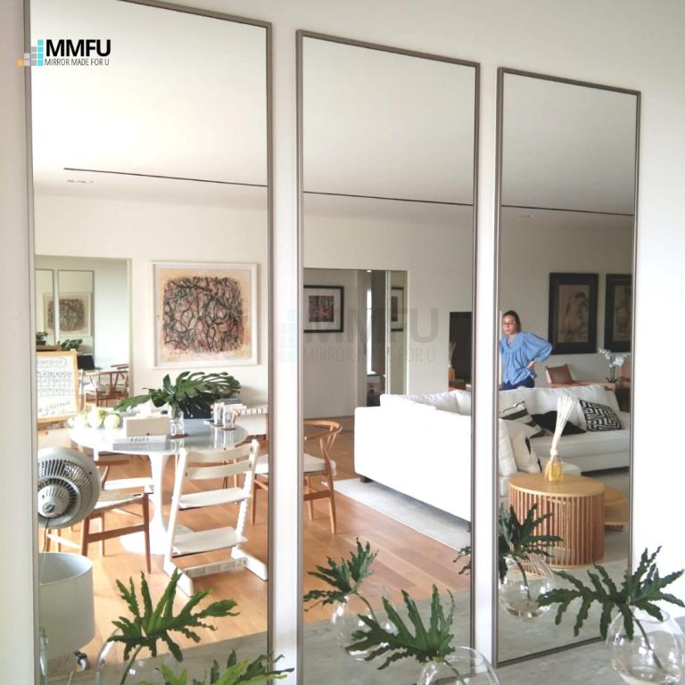 Customised Mirror with Anodized Aluminium Frame