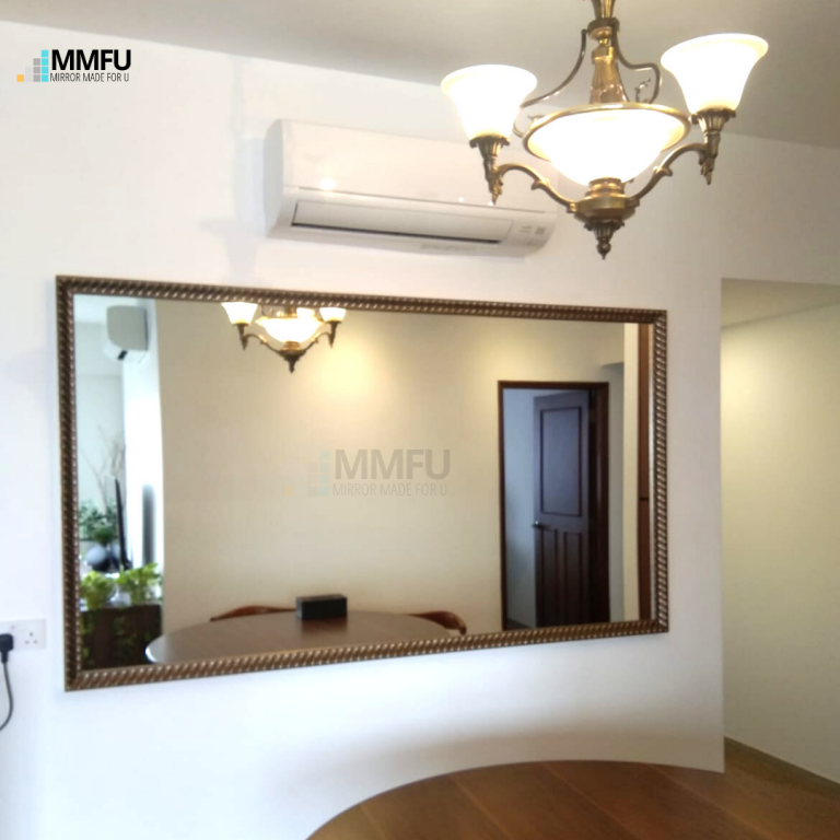 Customised Mirror with Antique Wooden Frame