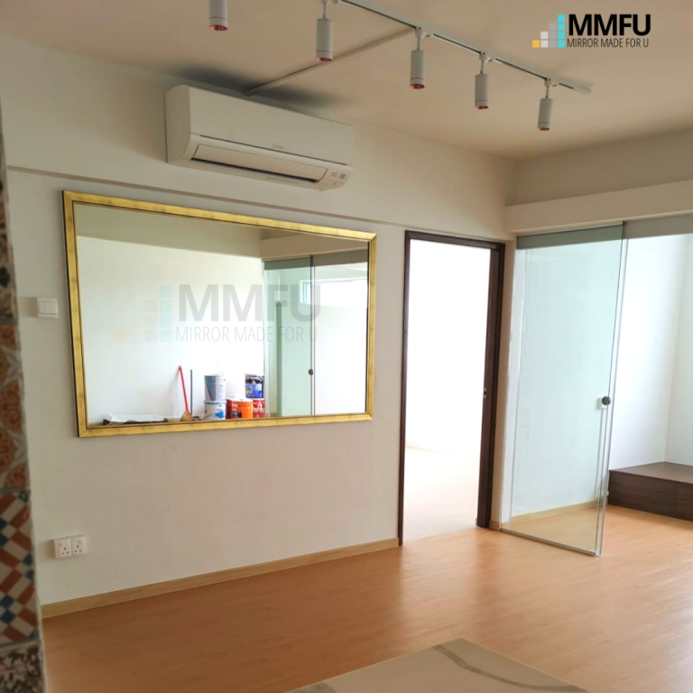 Customised Mirror with Gold Wooden Frame