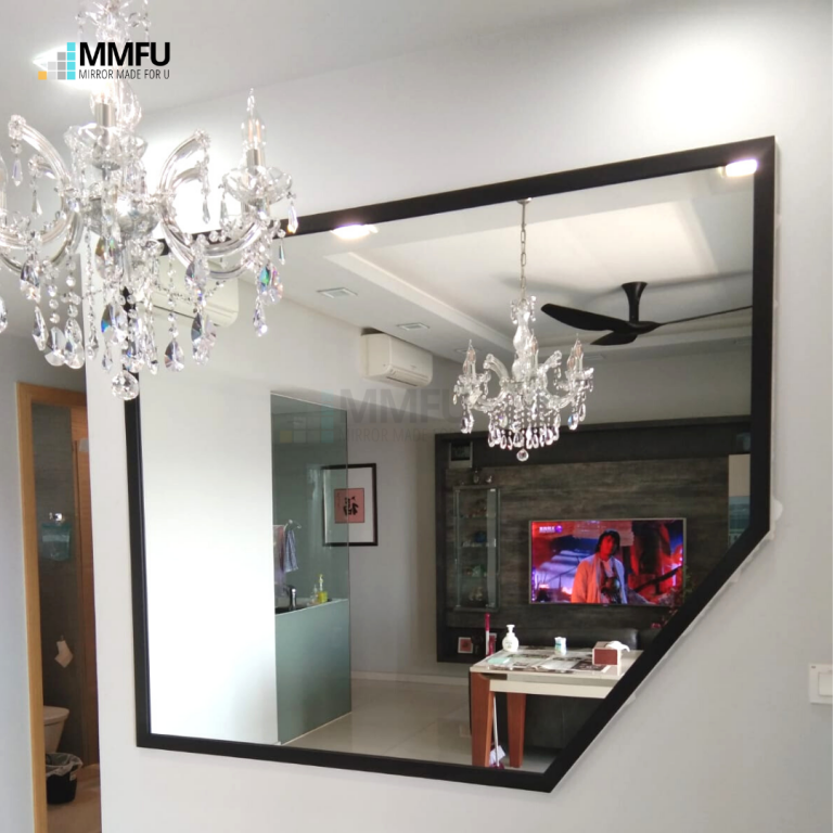 Customised Mirror with Wooden Frame