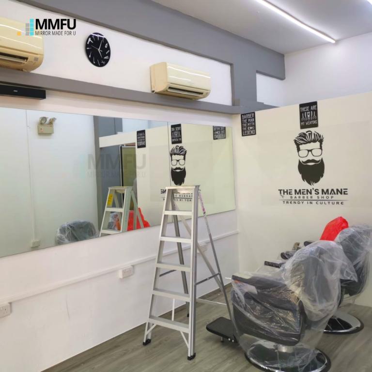 Half Length Wall Frameless Clear Mirror